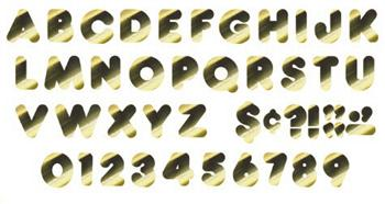 Ready Letters?« - Gold Metallic 2-Inch Casual Uppercase