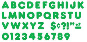 Ready Letters?« - Green 3-Inch Casual Uppercase (EN/SP)
