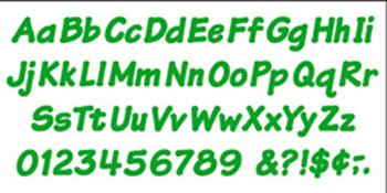 Ready Letters?« - Green 4-Inch Italic Uppercase/Lowercase Combo Pack (EN/SP)