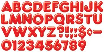 Ready Letters?« - Red 2-Inch 3-D Uppercase