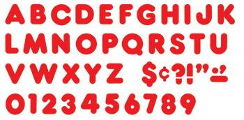 Ready Letters?« - Red 4-Inch Casual Uppercase