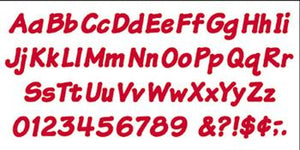 Ready Letters?« - Red 4-Inch Italic Uppercase/Lowercase Combo Pack (EN/SP)