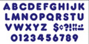 Ready Letters?« - Royal Blue 2-Inch Casual Uppercase