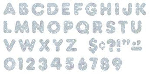 Ready Letters?« - Silver Sparkle 2-Inch Casual Uppercase