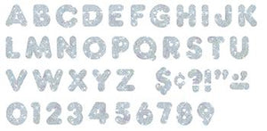 Ready Letters?« - Silver Sparkle 4-Inch Casual Uppercase