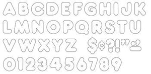 Ready Letters?« - White 2-Inch Casual Uppercase