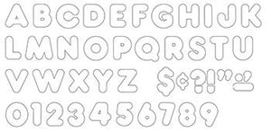Ready Letters?« - White 4-Inch Casual Uppercase