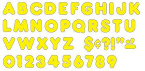Ready Letters?« - Yellow 2-Inch Casual Uppercase