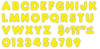 Ready Letters?« - Yellow 3-Inch Casual Uppercase (EN/SP)