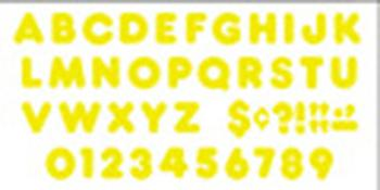 Ready Letters?« - Yellow 4-Inch Casual Uppercase