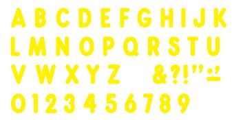 Ready Letters?« - Yellow 7-Inch Billboard Uppercase (EN/SP)