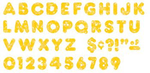 Ready Letters?« - Yellow Sparkle 4-Inch Casual Uppercase