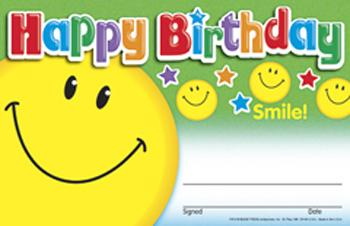 Recognition Awards - Happy Birthday Smile