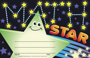 Recognition Awards - Math Star