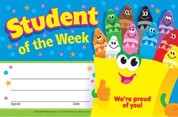 Recognition Awards - Student Of The Week Crayons