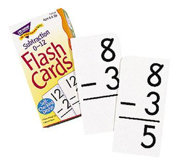 Skill Drill Flash Cards - Subtraction 0-12