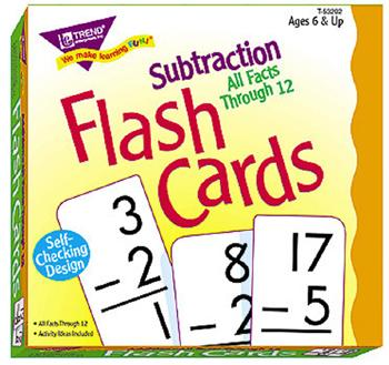 Skill Drill Flash Cards - Subtraction 0-12 All Facts