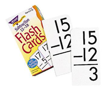 Skill Drill Flash Cards - Subtraction 13-18