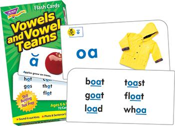 Skill Drill Flash Cards - Vowels And Vowel Teams