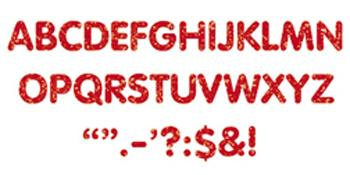 STICK-EZE?« Stick-On Letters - Red Sparkle 2-Inch Letters & Marks