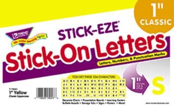 STICK-EZE?« Stick-On Letters - Yellow 1-Inch Letters, Numbers, & Marks