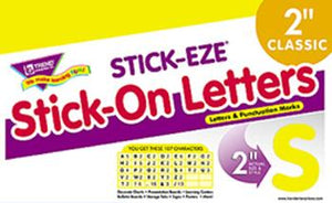 STICK-EZE?« Stick-On Letters - Yellow 2-Inch Letters & Marks