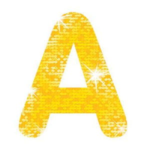 STICK-EZE?« Stick-On Letters - Yellow Sparkle 2-Inch Letters & Marks