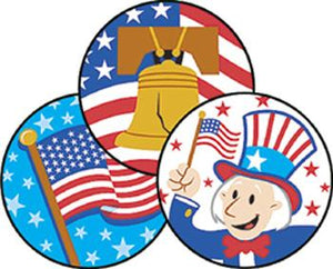 Stinky Stickers?« ?Çô Large Round - American Pride/Apple Pie