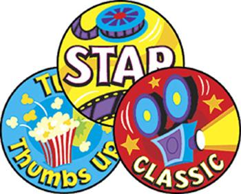 Stinky Stickers?« ?Çô Large Round - At The Movies/Popcorn