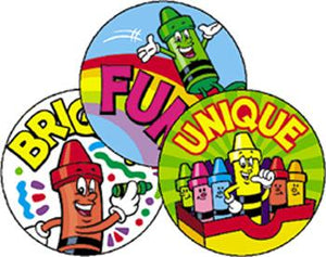 Stinky Stickers?« ?Çô Large Round - Creative Crayons/Fruit Punch