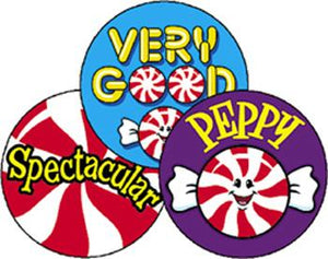 Stinky Stickers?« ?Çô Large Round - Peppy Peppermints/Peppermint