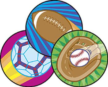 Stinky Stickers?« ?Çô Large Round - Spectacular Sports/Leather