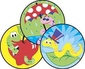 Stinky Stickers?« ?Çô Large Round - Wiggly Worms/Dirt