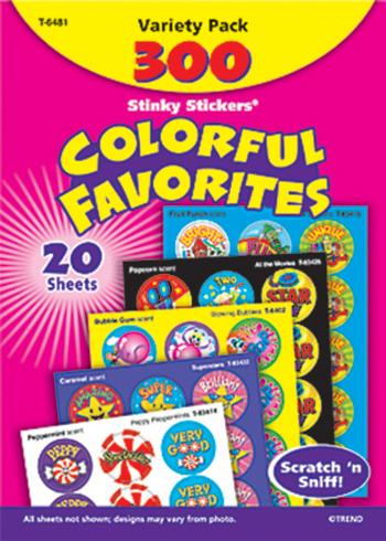 Stinky Stickers?« Variety Pack - Colorful Favorites