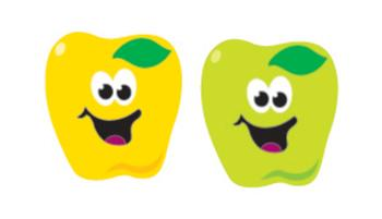 SuperShapes Stickers - Happy Apples