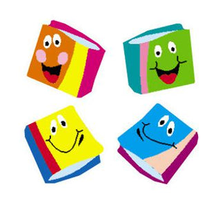 SuperShapes Stickers - Happy Books