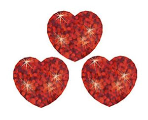 SuperShapes Stickers ?Çô Sparkle - Red Hearts
