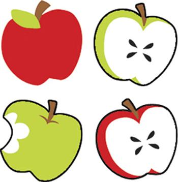 SuperShapes Stickers - Tasty Apples
