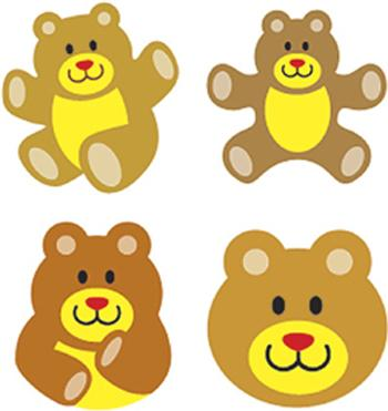 SuperShapes Stickers - Teddy Bears