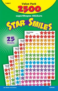 SuperShapes Stickers Value Pack - Star Smiles