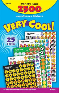 SuperShapes Stickers Variety Pack - Very Cool!