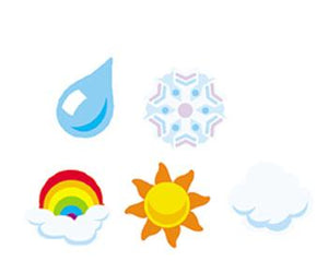SuperShapes Stickers - Weather