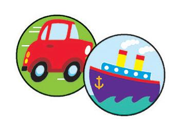 SuperSpots?« Stickers - Tiny Transports