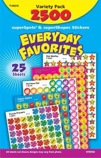 SuperSpots?« & SuperShapes Stickers Variety Pack - Everyday Favorites