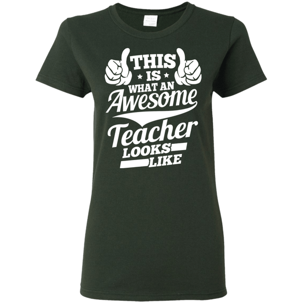 T-Shirts - Awesome Teacher G500L Ladies' T-Shirt