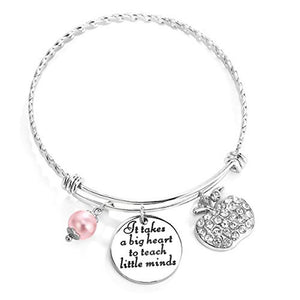 Teacher Appreciation Bangle Bracelet