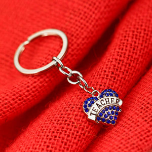 Teacher Heart Keychain