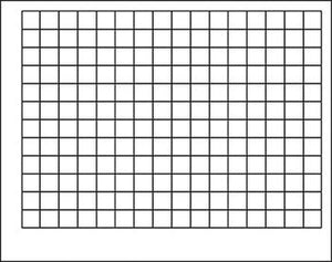 "Wipe-Off?« Chart - Graphing Grid (1 1/2"" Squares)"