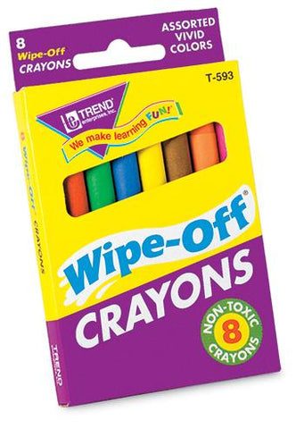 Wipe-Off?« Crayons - 8-Pack Regular Assorted