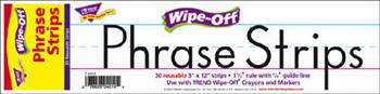 Wipe-Off?« Phrase Strips - 12-Inch White